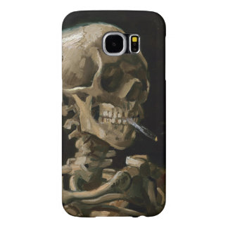 Skull with Burning Cigarette Vincent van Gogh Art Samsung Galaxy S6 Case