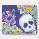 Skull with Butterflies mousepad