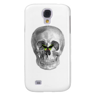 SKULL WITH BUTTERFLY ON NOSE PRINT GALAXY S4 CASE