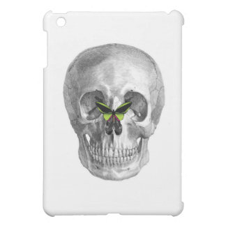 SKULL WITH BUTTERFLY ON NOSE PRINT iPad MINI CASES