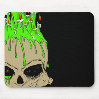 Skull with candles Mousepad