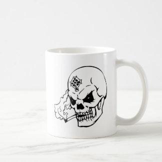 Skull with Celtic Cross Coffee Mugs
