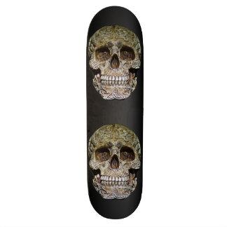 Skull With Celtic Knot Carving Skateboard Deck