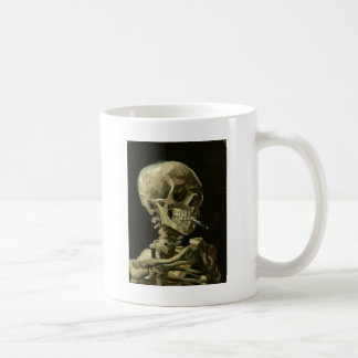 Skull with Cigarette by Van Gogh Coffee Mug