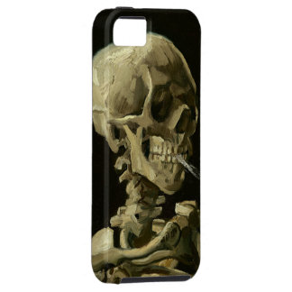Skull with Cigarette by Van Gogh iPhone SE/5/5s Case