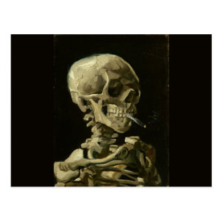 Skull with Cigarette by Van Gogh Postcard