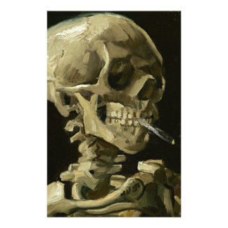 Skull with Cigarette by Van Gogh Stationery
