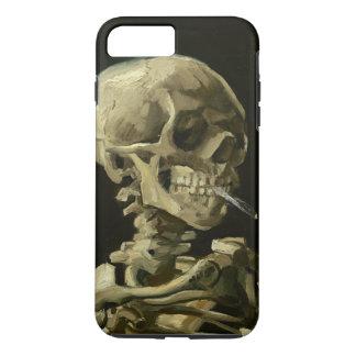 Skull with Cigarette Van Gogh iPhone 7 Plus Case
