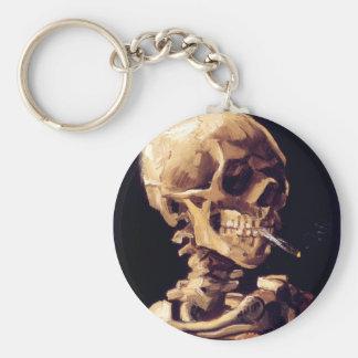 Skull With Cigarette, Van Gogh Keychain