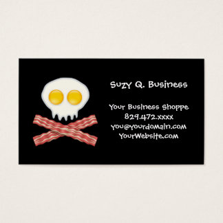 Skull With Crossed Bacon  Skull Bacon Eggs Business Card