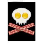 Skull With Crossed Bacon  Skull Bacon Eggs Card