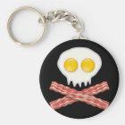 Skull With Crossed Bacon  Skull Bacon Eggs Keychain