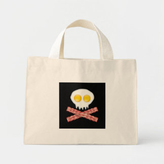 Skull With Crossed Bacon  Skull Bacon Eggs Mini Tote Bag