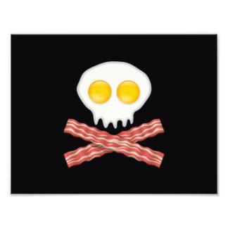 Skull With Crossed Bacon  Skull Bacon Eggs Photo Print
