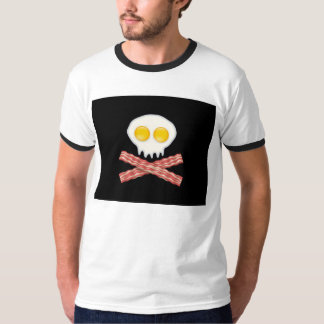 Skull With Crossed Bacon  Skull Bacon Eggs T-shirt