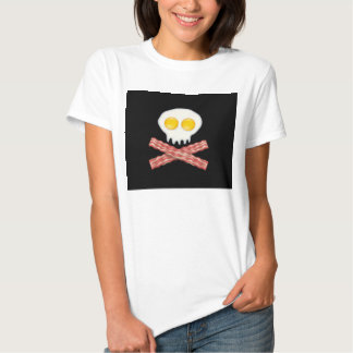 Skull With Crossed Bacon  Skull Bacon Eggs Tee Shirt