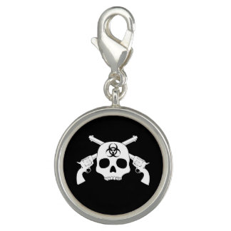 Skull with Crossed Guns Photo Charms