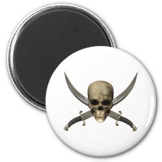 Skull with Crossed Swords Magnet