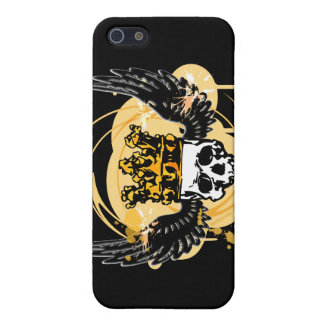 Skull with crown iPhone Cases
