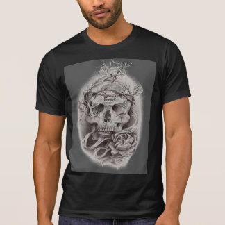 Skull with Crown of Thorns with Rose T-Shirt