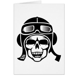Skull with engine with card