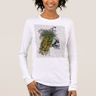 Skull With Feather Headress Long Sleeve T-Shirt