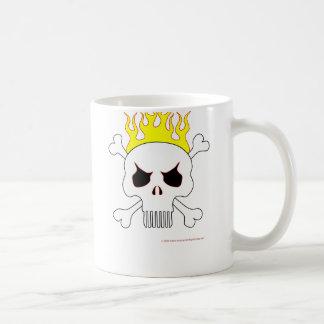 Skull With Flames Mug
