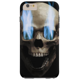 Skull with flaming eyes tough iPhone 6 plus case