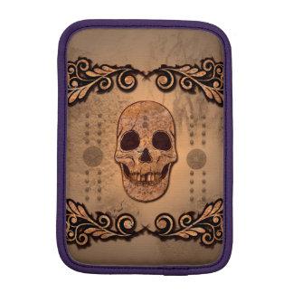 Skull with floral elements iPad mini sleeve