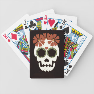 Skull With Flowers Bicycle Playing Cards