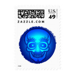 Skull with funny glasses postage stamps