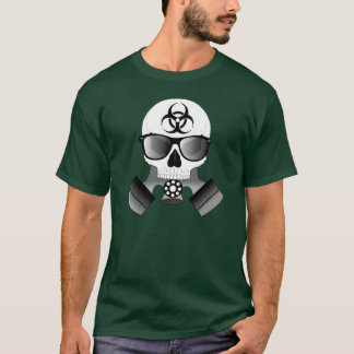 Skull With Gas Mask & Sunglasses T-Shirt