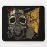 Skull With Gasmask Mouse Pad
