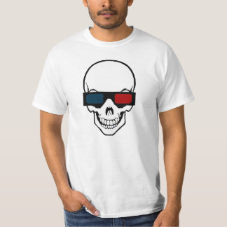 Skull with glasses 3D T-Shirt