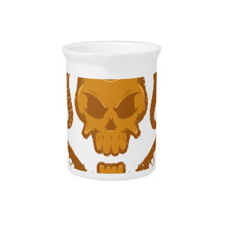 Skull with gun beverage pitcher
