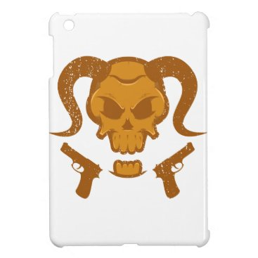 Halloween Themed Skull with gun cover for the iPad mini