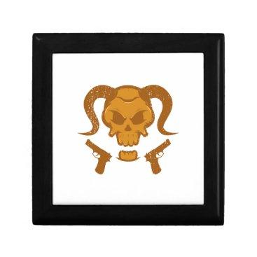 Halloween Themed Skull with gun gift box