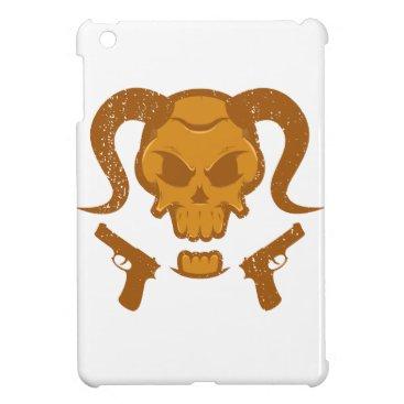 Halloween Themed Skull with gun iPad mini case