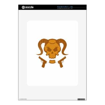 Halloween Themed Skull with gun iPad skin