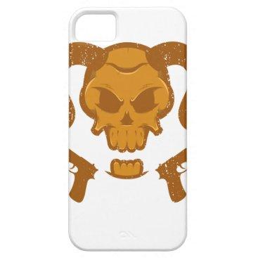 Halloween Themed Skull with gun iPhone SE/5/5s case