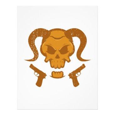 Halloween Themed Skull with gun letterhead