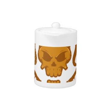 Halloween Themed Skull with gun teapot