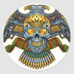 Skull with Guns and Bullets by Al Rio Stickers