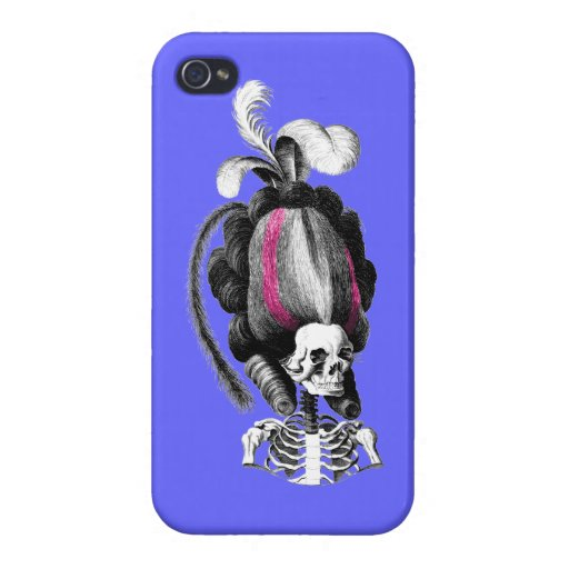 Skull with Hair Case For iPhone 4