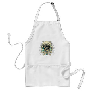 Skull with Hat and Crossbones Adult Apron