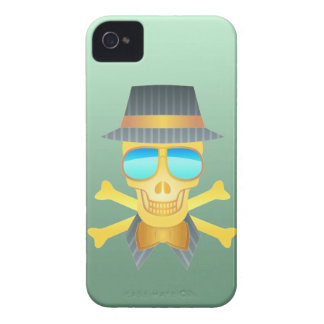 Skull with hat, bow tie & mirror shades. Case-Mate iPhone 4 case