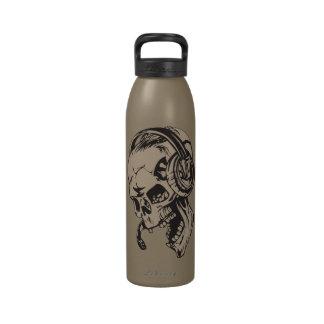 Skull With Headphone Water Bottles