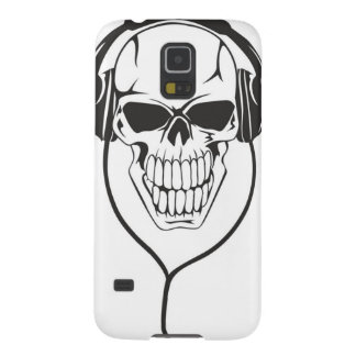 Skull with Headphones Cases For Galaxy S5