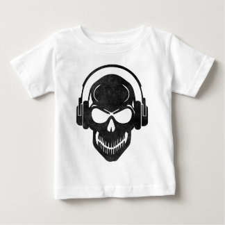 Skull with Headphones - Rave - Electro - Hardstyle Baby T-Shirt