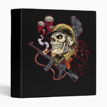 skull,, skulls,, airborne,, marine,, marines,, corps,, parachute,, skeleton,, skeletons,, al rio, Binder with custom graphic design